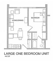 Large One Bedroom Unit