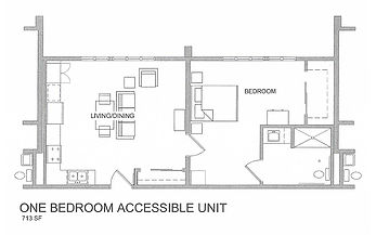 one bedroom accessible unit